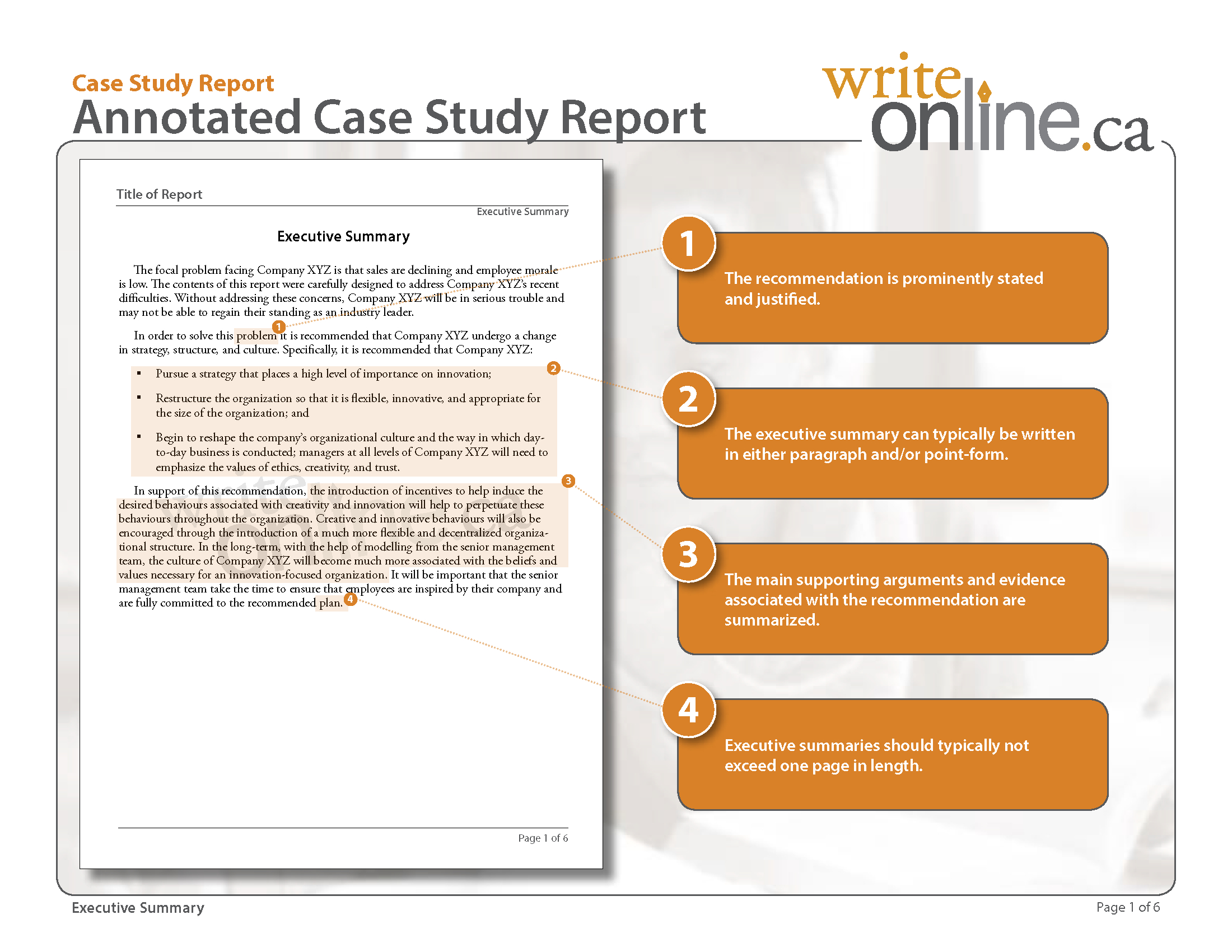 Write Online: Case Study Report Writing Guide - Parts Of A for Implementation Report Template