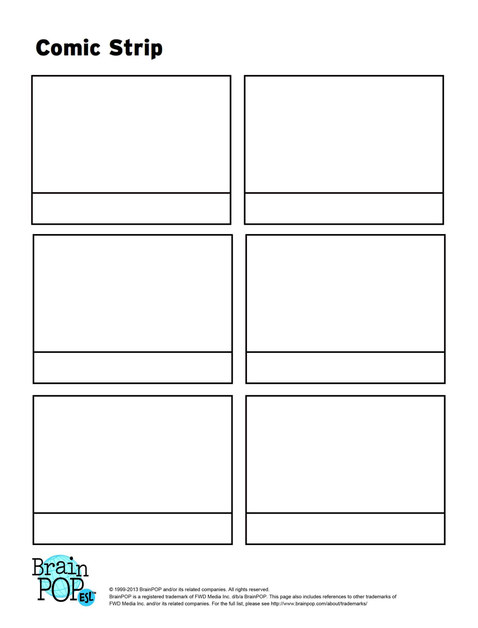 Write, Sequence And Illustrate A Story Using This Blank with regard to Printable Blank Comic Strip Template For Kids