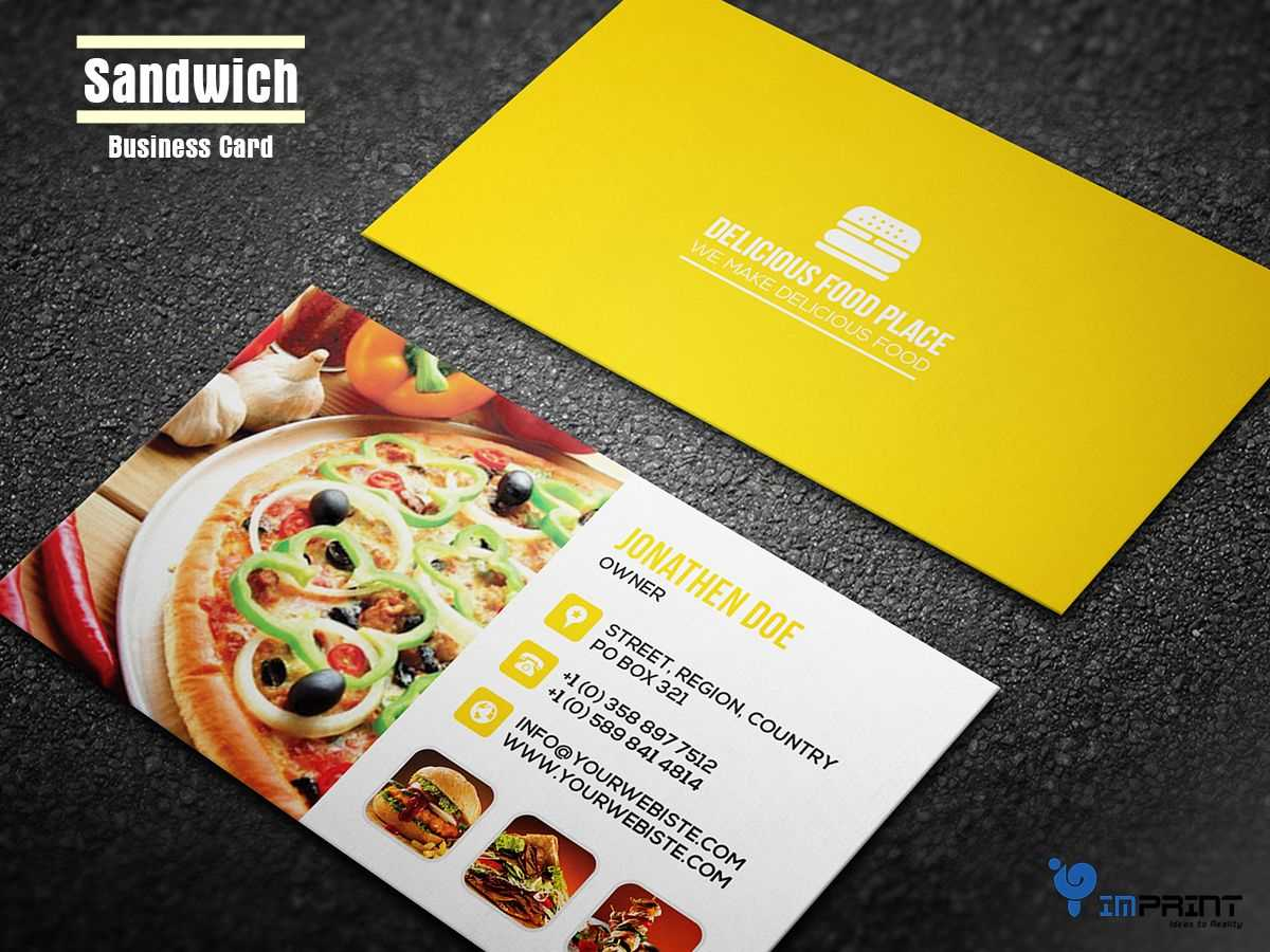 You Must Be Thinking What Is Sandwich Business Card? It's Within Food Business Cards Templates Free