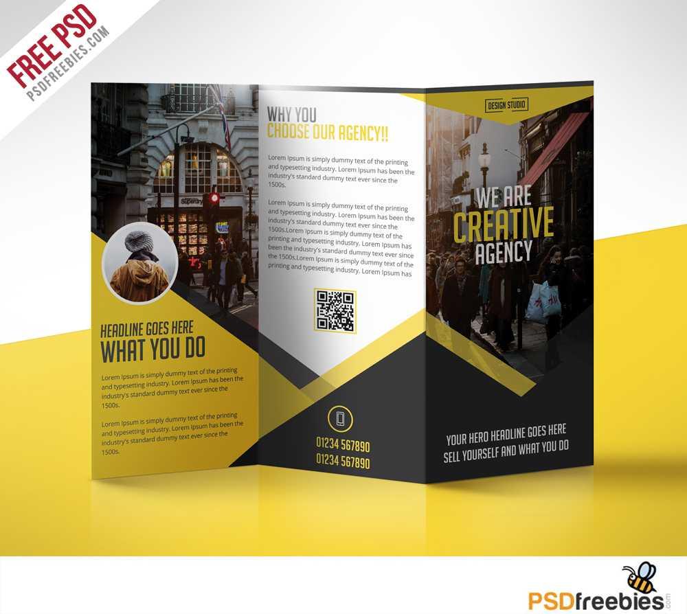 Multipurpose Trifold Business Brochure Free Psd Template pertaining to Brochure 3 Fold Template Psd