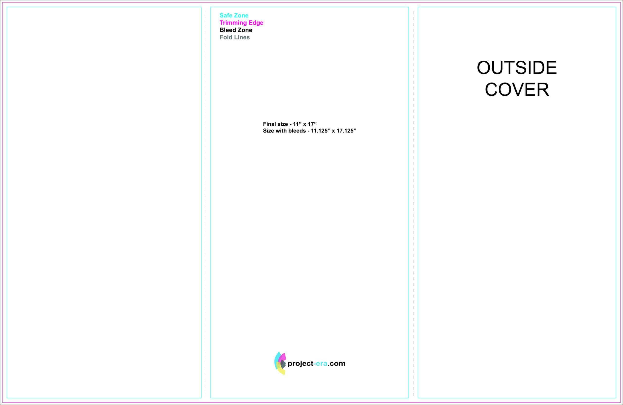 Project Era - Print & Design Services - Print Templates Inside Brochure 3 Fold Template Psd
